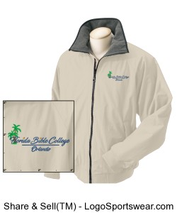 Florida Bible College Mens Three-Season Classic Jacket Design Zoom