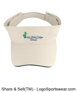 Florida Bible College Visor - Tan Design Zoom