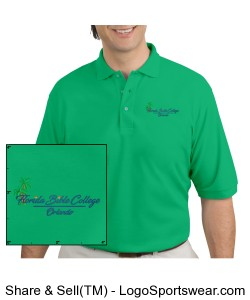 Florida Bible CollegeMens Polo - Green Design Zoom