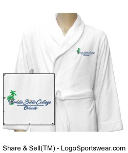 Florida Bible College Robe - White Design Zoom