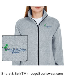 UltraClub Ladies Iceberg Fleece Full-Zip Jacket Design Zoom