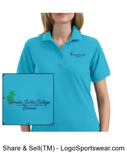 Florida Bible College Womans Polo - Maui Blue Design Zoom