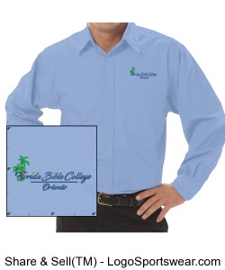 Florida Bible College Dress Shirt Design Zoom