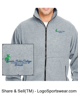 Florida Bible College Jacket - Gray Design Zoom