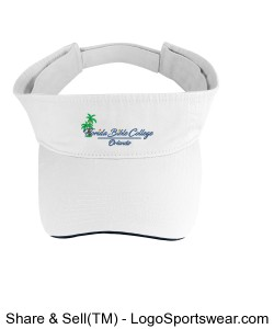Florida Bible College Visor - White Design Zoom