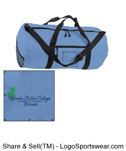 Florida Bible College - Duffle Bag - Light Blue Design Zoom