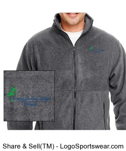Florida Bible College Jacket - Dark Gray Design Zoom