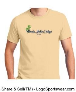 Florida Bible College T-Shirt Tan Design Zoom