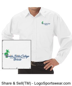 Florida Bible College Dress White Shirt Design Zoom