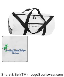 Florida Bible College - Duffle Bag - White Design Zoom
