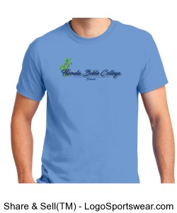 Florida Bible College T-Shirt Blue Design Zoom
