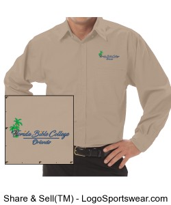 Florida Bible College Dress Tan Shirt Design Zoom